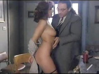 Anal sex brunette rubs her pretty pussy