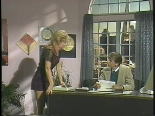 Blonde Retro MILF Sucks and Fucks her Boss' Cock in the Office