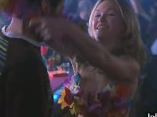 Blonde Babe Julia Stiles Dancing in Bikini in a Night Club
