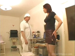 Horny Doctor Fucks Busty Brunette Babe And Gives Her A Sticky Facial