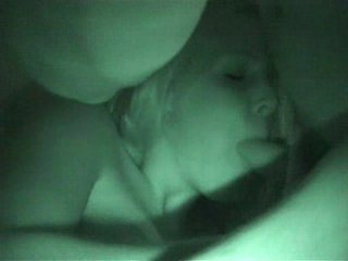 Blowjob caught on nightvision cam