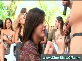 CFNM guy licks ass and cums in public at CFNM party