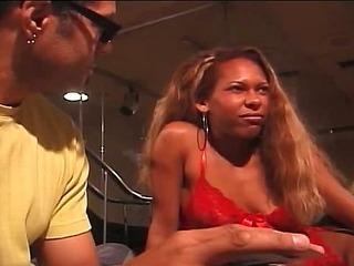 Sexy ebony slut fucked by big cock