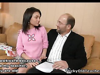 Insatiable hotty Sandra acquiesced to please her teacher's craving and after brutal fucking received a mouthfull of sexy cum.