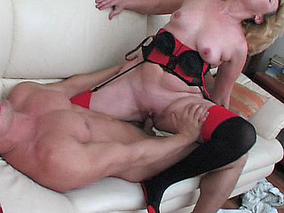 Horny older chick with huge knockers getting her powerful fuckhole dicked