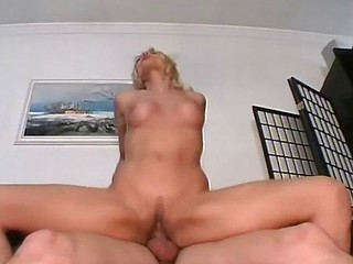 Hot blonde MILF gets licked and then rides his cock and gets fisted