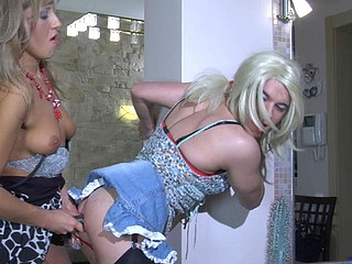 Cute sissy caught in a girlfriend
