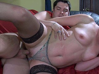 Chubby older chick giving orall-service and taking a unbending pole up her beaver