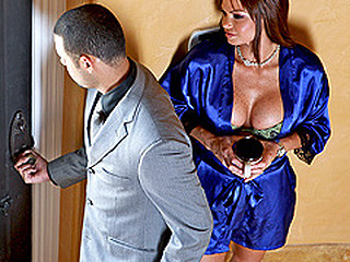 When Rhylee finds her spouse's packed suitcase hidden in the bedroom, this babe thinks that babe is going to get a surprise weekend getaway. However, Rhylee finds out that the trip is for her spouse and his mistress when this babe interrogates her spouse's assistant. Her merely way to get revenge, is to fuck the assistant.