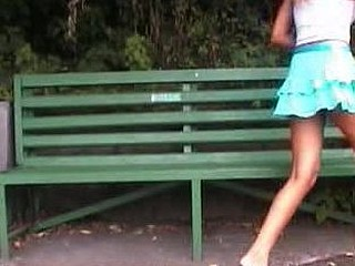 Hawt sweetheart shows her wet crack during pissing