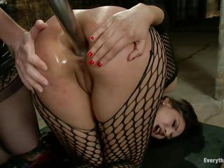 Bobbi Starr is super-hot lady who is fucking the hell out of this Hispanic whore Eva Fenix. She is tearing her big ass with a long anal toy and shoving it in & out from behind while Eva's lying down like a bitch. And after an ass to mouth, Eva changes position, spread legs and get her ass filled again!