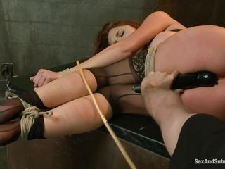 After breaking her self esteem it's time for that sexy ass to be exploited. Kenzie finds out that she likes being treated like a worthless whore and when the executor fingers her and spanks those sexy legs she begs for more. A big hard dick enters her tight anus, making Kenzie moan with great lust.