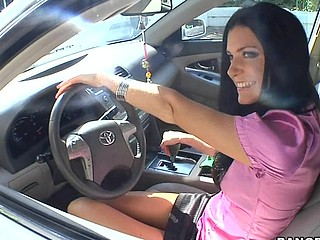 India Summer lives alone and has had a crush on the security guard that works in her apartment complex. That Babe gives a decision to lure him to the diggings asking him if that guy could assist her with her security system. This of course was a bold face lie, but it did the trick. This Guy comes over and fiddles around with the key pad when all of a sudden this babe comes down stars wearing no thing but her pants. The guard can't aid him self be enticed by her and raunchy madness ensues. They fucked all over the living room and this babe pretty soon finds out that that guy likewise has had a crush on her for some time and even masturbated in the guard booth a pair times. This one is for the books. Have A Fun!