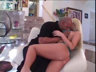 Ass fucked blonde with a sexy tattoo