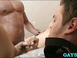These guys having interracial sex