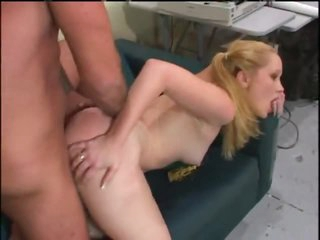 Teenager with milky white skin has anal sex