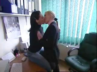 Various hot clips of sexy lesbians babes in sensual kissing