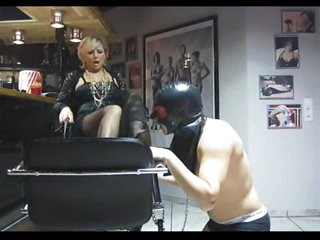 He serves the feet of his mistress