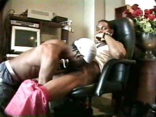Ebony dudes having good time