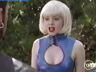 Rose McGowan On a Weird, Yet Sexy Outfit