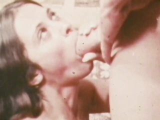 Retro Pornstar Trudy Wellers Gets a Facial from John Holmes' Big Cock
