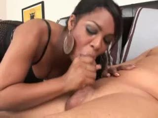 Black girl messy deepthroat of white dick