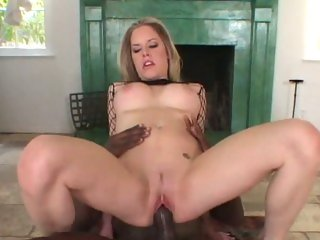 Sexy Alicia Rhodes takes a huge dick down her throat