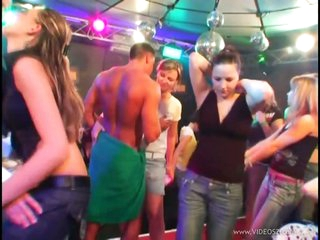 Busty Babes Suck Cock and Get Fucked At an Interracial CFNM Party