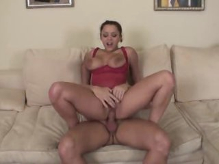 Curvy brunette in heels fucked in her vagina
