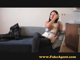 FakeAgent Horny amateur gives saucy tit wank