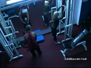 Horny latina girlfriend gym sex by hidden camera