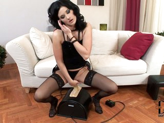 Lulu finds Sybian machine amazing an