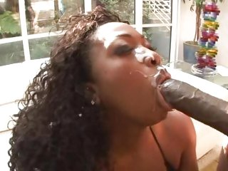 Ebony babe Aryana Starr is poled by Lex Steele