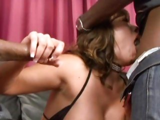 Alluring Ava Devine gets her moist throat slammed