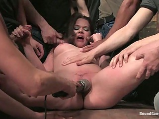 Sexual slave hardly in gangbanged