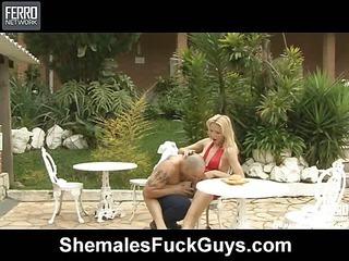 Laviny&Tony shemale fucking guy on video