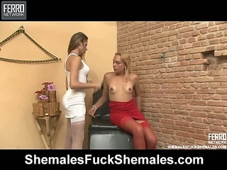 Yasmin&Bianca pretty shemales on video