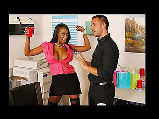 Keiran suggests the uptight Codi to a cup of jock at an office party next thing u u know Codi's suddenly let her hair down and got loose. The rest of the office heads off to a club to take advantage of their boss' tab, leaving Keiran alone to fuck Codi's sexy swarthy twat.