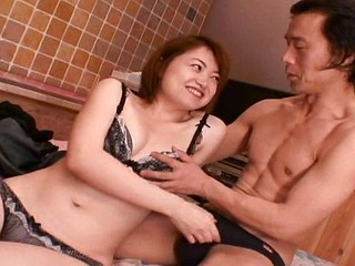 Cute Asian girl gets toyed, eats his cock and then gets banged