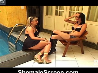 Nasty shemale is aching to put her boner in action during the time that fucking sexy chick