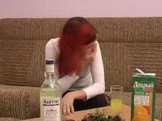 Wearing a taut white top and black pants Anfisa is sitting on the couch drinking and smoking. This Babe throws down the liquor quickly, barreling hard and fast towards drunkenness. Eventually her speech starts to slur and her eyelids get enormous, giving the signal that that babe's loaded and it's time to start playing. That Babe stands and instead of doing much of a striptease this babe just pulls her clothing off and shows us her muff. Her milk sacks are diminutive and merry and when her fingers find their way into the sexy hole that is her snatch this babe moans like a good slut should. If merely u could join the drunk amateur on the couch