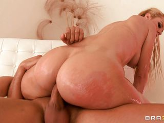 Blonde Brazilian hottie Jessie Rogers has a nice, big ass and loves a nice, big cock to go in it! She rides that dick deep and takes it rough in her shit chute, being choked as well. Judging by the size of that dick, she may walk funny after this.....