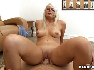 This mature blonde really likes to please the cock. she is riding it like her favorite pony that she has cared for all her life. when she feels it is not giving enough pleasure to dick. she turns around to give him easy access to her butt that he squeezes as she rides, before he cums on her face.