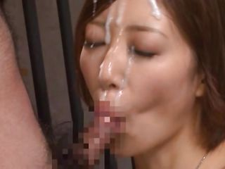 makoto's pretty face asks for a big load of spunk on it and this dude gives every drop of semen he has. Feeling the warm jizz flowing on her face she gets even more excited and gives him head while masturbating. What a sweet horny chick she is and that body of hers burns with desire for fucking