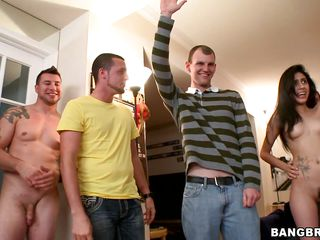 These college students getting a chance to watch these three pornstars doing wild things inside their dorm room. All the guys and girls are looking at Christy Mack, Nikki Delano and Kendra Lust's sexy bodies. And the lucky college boys have the chances to taste their love juice. Let's see what happens!