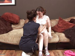 Patti slowly undress her girl and then shows her some mommy love. She gently massages those firm tits and has a taste of those hard nipples. Mom loves to lick a pair of young sweet tits but does she likes doing the same with her girl's pussy? Stick around and find out if she does!