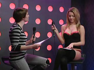 Two sexy girls speak live about sex in a jewish manner. They are broke and trying to buy something, but don`t have enough money. These jokes about sex are really turning them on. Besides looking for Mr. Right, the blonde wants to go down on her girlfriend for some money. She takes her bra off, it`s so hot.