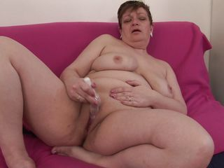 Dalena is in the middle of her forties and still this chubby granny has a appetite for dick or dildo! She shows her big fat ass and wide pussy while she is fucking herself with that toy of hers! And later she spreads her legs and begin to masturbate again with showing us her chubby big tits!