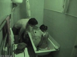 Hawt fucking inside the bathtub excites horny hottie very much