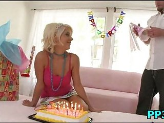 Crazy girl slut happy birthday fuck